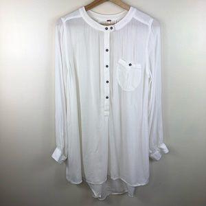 Free People white long sleeve tunic size large